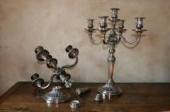 chandeliers tordus et désargentés, réargenture, débosselage