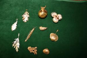 Métallisation Fruits et coquillages, finition cuivre laiton argent ou or, L'Atelier des Orfèvres à Saint Fort